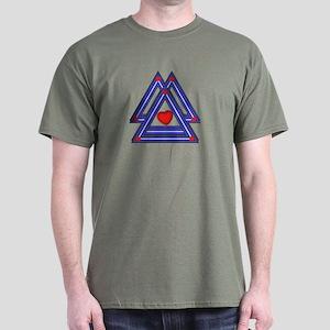 3 LEATHER PRIDE TRIANGLES Dark T-Shirt