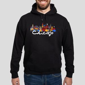 Chicago Illinois Skyline Hoodie (dark)
