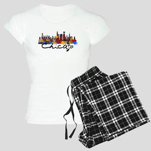 Chicago Illinois Skyline Women's Light Pajamas