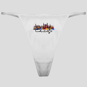 Chicago Illinois Skyline Classic Thong