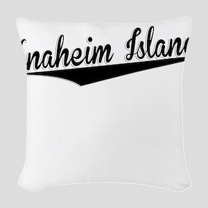 Anaheim Island, Retro, Woven Throw Pillow