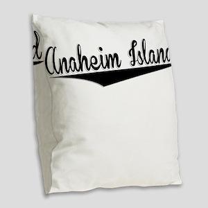 Anaheim Island, Retro, Burlap Throw Pillow