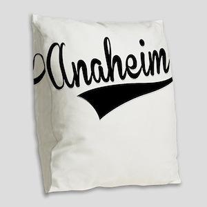 Anaheim, Retro, Burlap Throw Pillow