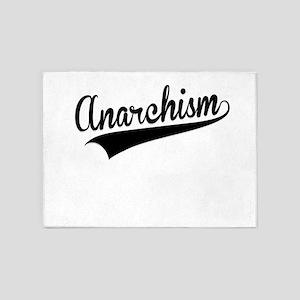 Anarchism, Retro, 5'x7'Area Rug