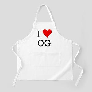 I Love OG BBQ Apron