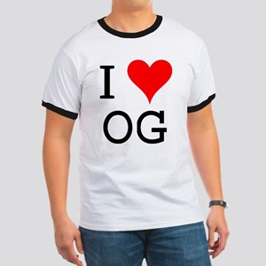 I Love OG Ringer T