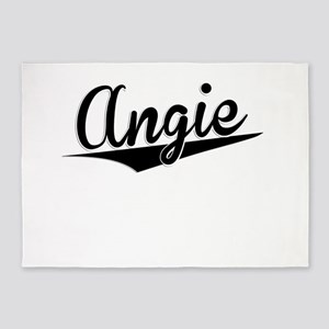 Angie, Retro, 5'x7'Area Rug