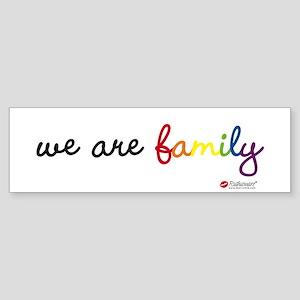 We Are Family Bumper Sticker