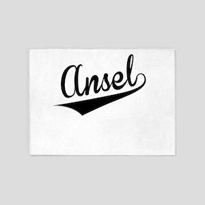 Ansel, Retro, 5'x7'Area Rug