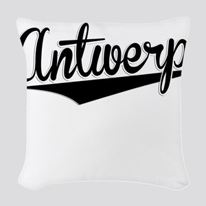 Antwerp, Retro, Woven Throw Pillow