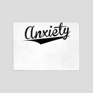 Anxiety, Retro, 5'x7'Area Rug