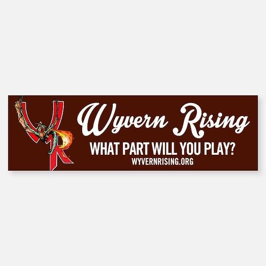 Wyvern Rising Bumper Bumper Bumper Sticker