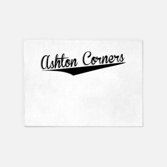 Ashton Corners, Retro, 5'x7'Area Rug