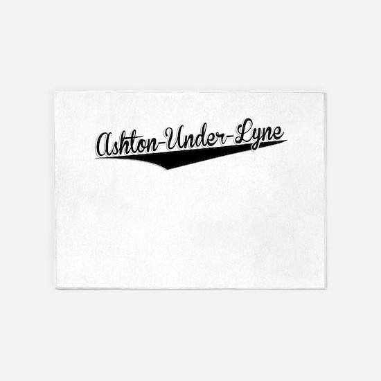 Ashton-Under-Lyne, Retro, 5'x7'Area Rug
