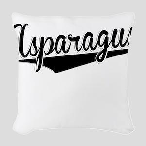 Asparagus, Retro, Woven Throw Pillow