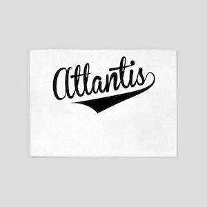 Atlantis, Retro, 5'x7'Area Rug