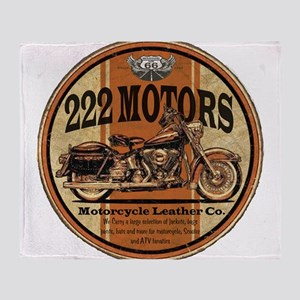 222 Motors Leather Store Throw Blanket