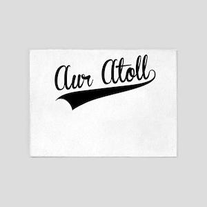Aur Atoll, Retro, 5'x7'Area Rug