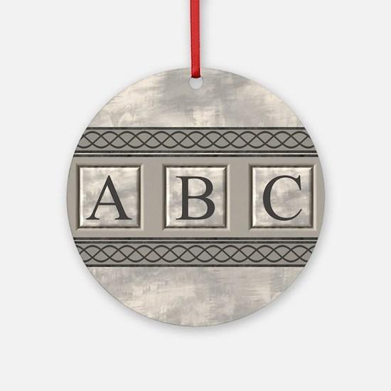 Personalizable Marble Monogram Ornament (Round)
