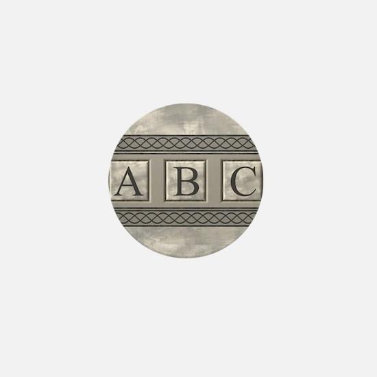 Personalizable Marble Monogram Mini Button