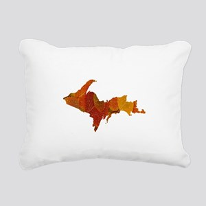 Autumn Leaves U.P. Rectangular Canvas Pillow