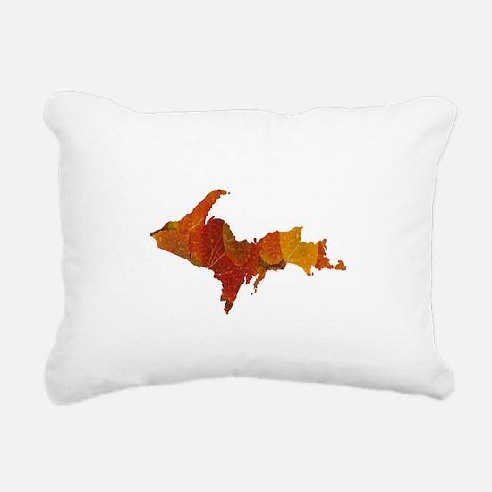 Autumn Leaves U.P. Rectangular Canvas Pillow
