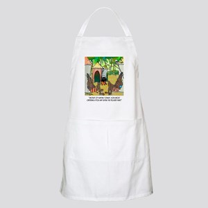 Eat Pizza Delivery Man Light Apron