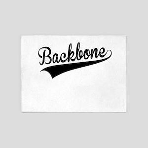 Backbone, Retro, 5'x7'Area Rug