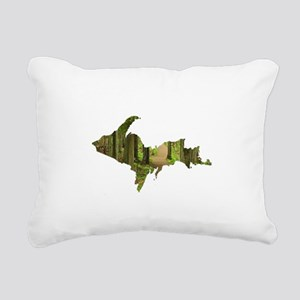 U.P. Forest Path Rectangular Canvas Pillow
