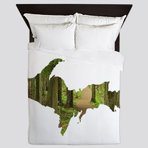 U.P. Forest Path Queen Duvet