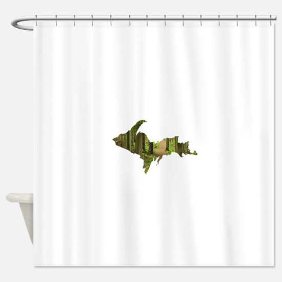 U.P. Forest Path Shower Curtain