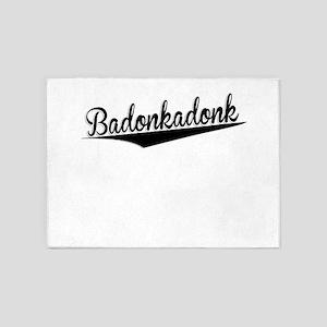 Badonkadonk, Retro, 5'x7'Area Rug