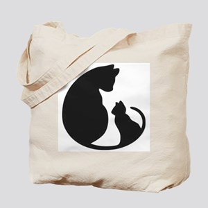 CAT WITH MOM Tote Bag