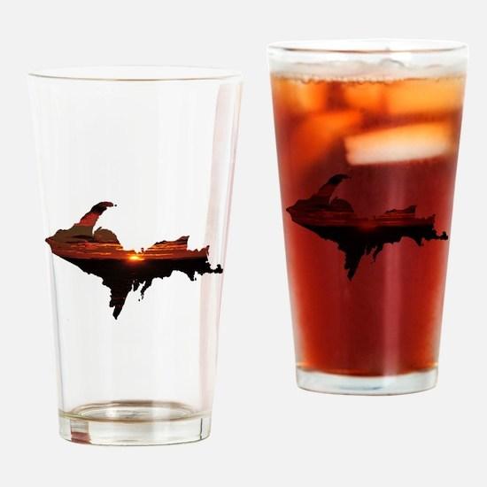 U.P. Sunrise Drinking Glass