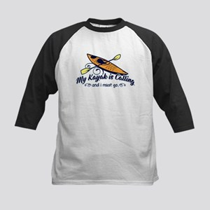 My Kayak Is Calling Kids Baseball Tee