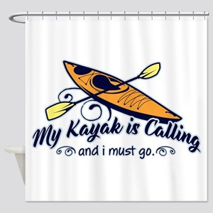 My Kayak Is Calling Shower Curtain