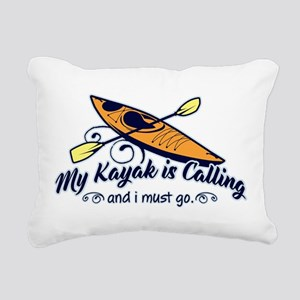 My Kayak Is Calling Rectangular Canvas Pillow