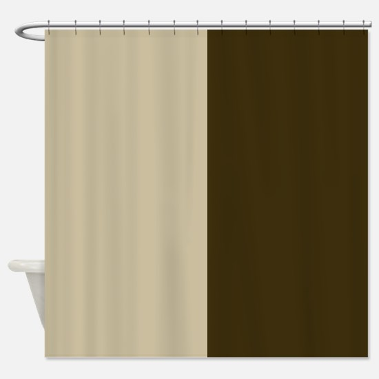 Chocolate Brown and Cream Shower Curtain