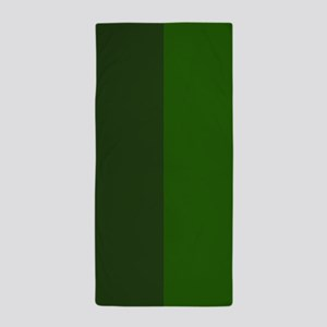Dark Green Halves Beach Towel