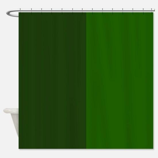 Dark Green Halves Shower Curtain