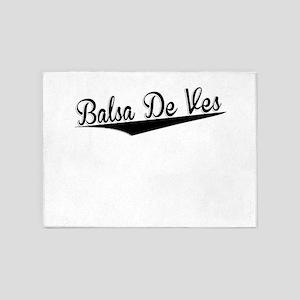 Balsa De Ves, Retro, 5'x7'Area Rug