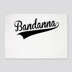 Bandanna, Retro, 5'x7'Area Rug