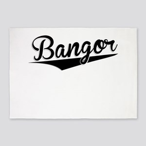 Bangor, Retro, 5'x7'Area Rug