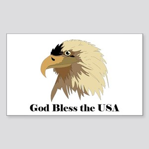 Eagle - God Bless Rectangle Sticker