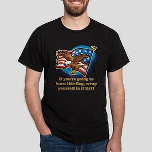 Burning Flag - advice Dark T-Shirt