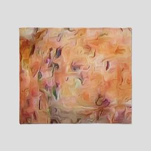 Desert Peach Throw Blanket