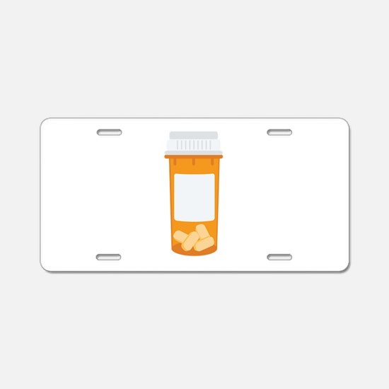 Medicine Pill Bottle Aluminum License Plate