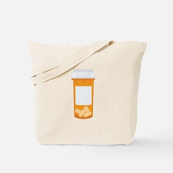 Medicine Pill Bottle Tote Bag