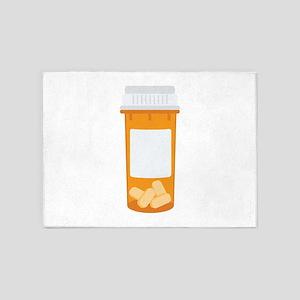 Medicine Pill Bottle 5'x7'Area Rug