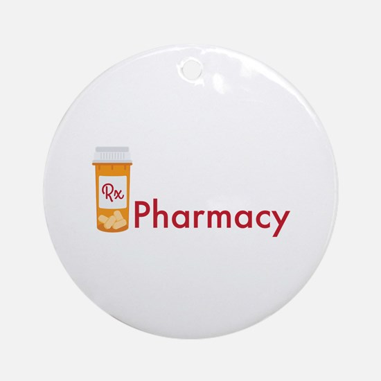 RX Pharmacy Ornament (Round)